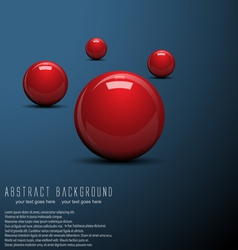 ball background vector image