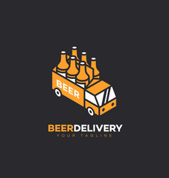 beer delivery logo vector image