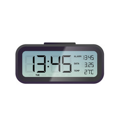 Black digital alarm clock vector