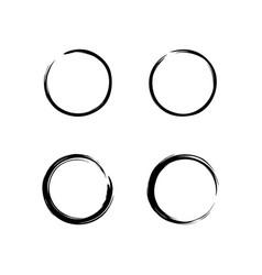 black zen circle set logo icon sign brush vector image