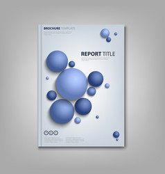 brochures book or flyer with abstract blue balls vector image