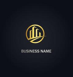 Building business company logo vector