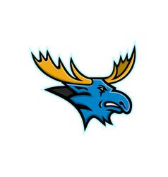 Bull moose head mascot vector