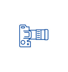 camera dslr top view line icon concept camera vector image