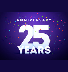 celebration 25th anniversary event party template vector image