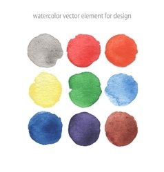Colorful isolated watercolor paint circles vector image vector image