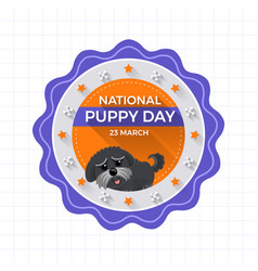 Concept national puppy day vector