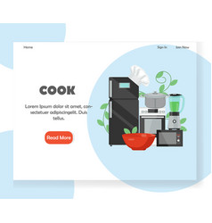 cook website landing page design template vector image