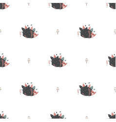 cool christmas patterns in scandinavian style for vector image