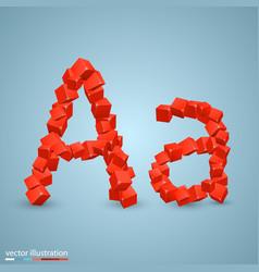 Cubes as a symbol font vector