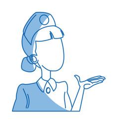 Cute female nurse character health staff vector