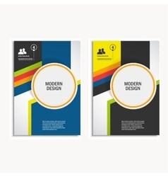 Design cover design brochure in A4 size vector