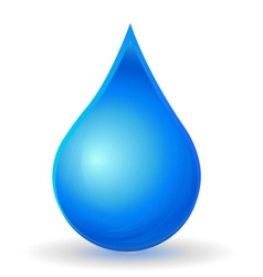 Drop of water with vivid color vector