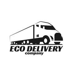 Eco truck logo vector