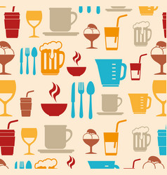 Food-related objects pattern vector