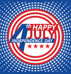 fourth july usa independence day vector image