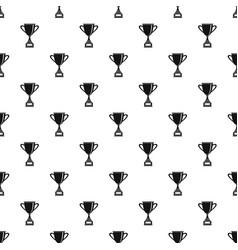Gold cup for championship pattern vector
