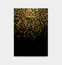 golden glitter design template vector image