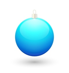 Gradient christmas blue ball vector