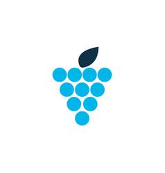 Grapes icon colored symbol premium quality vector