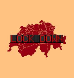 Graphic switzerland lockdown vector