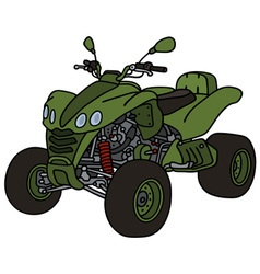 Green all terrain vehicle vector