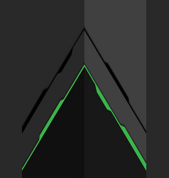 green line arrow on grey metal design modern vector image