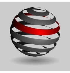 Grey glossy spheres isolated vector image
