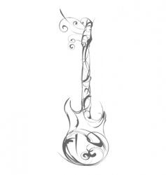 guitar made out of decorative vector image