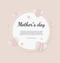 happy mother s day greetings design with paper vector image