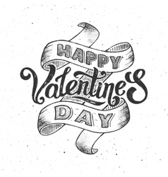 Happy valentines day vintage poster vector image