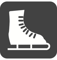 Ice Skating Shoe vector image
