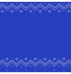 Knitted pattern background vector image