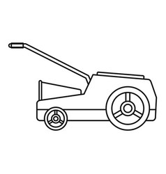 Lawn mower machine icon outline style vector