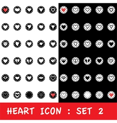 Love heart icon set on white background vector image