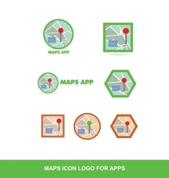 Map logo icon for applications vector