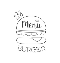 Monochrome Burger Premium Quality Fast Food Street vector