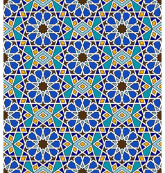mosaic arabic seamless pattern with geometric vector image