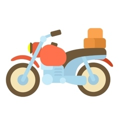 Motorcycle with boxes icon cartoon style vector