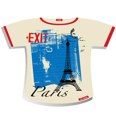 paris t shirt vector image