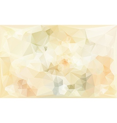 poligonal abstract background in beige tones vector image