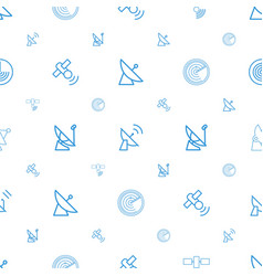 Radar icons pattern seamless white background vector