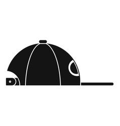 rap cap icon simple style vector image