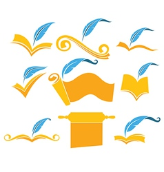 reading symbols vector image vector image