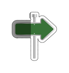 road sign directions vector image