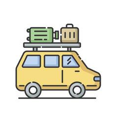 road trip rgb color icon vector image