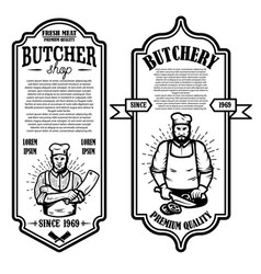 set of vintage butchery and meat store flyers vector image