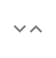 Simple gray shuffle icons with up and down arrows vector