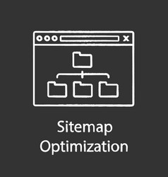Sitemap optimization chalk icon vector