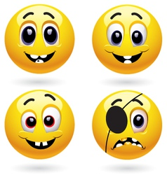 smiley characters vector image